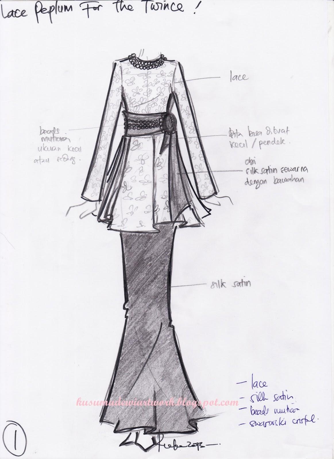 Kumpulan Soal Pelajaran 8 Sketsa Desain Baju Atasan Wanita