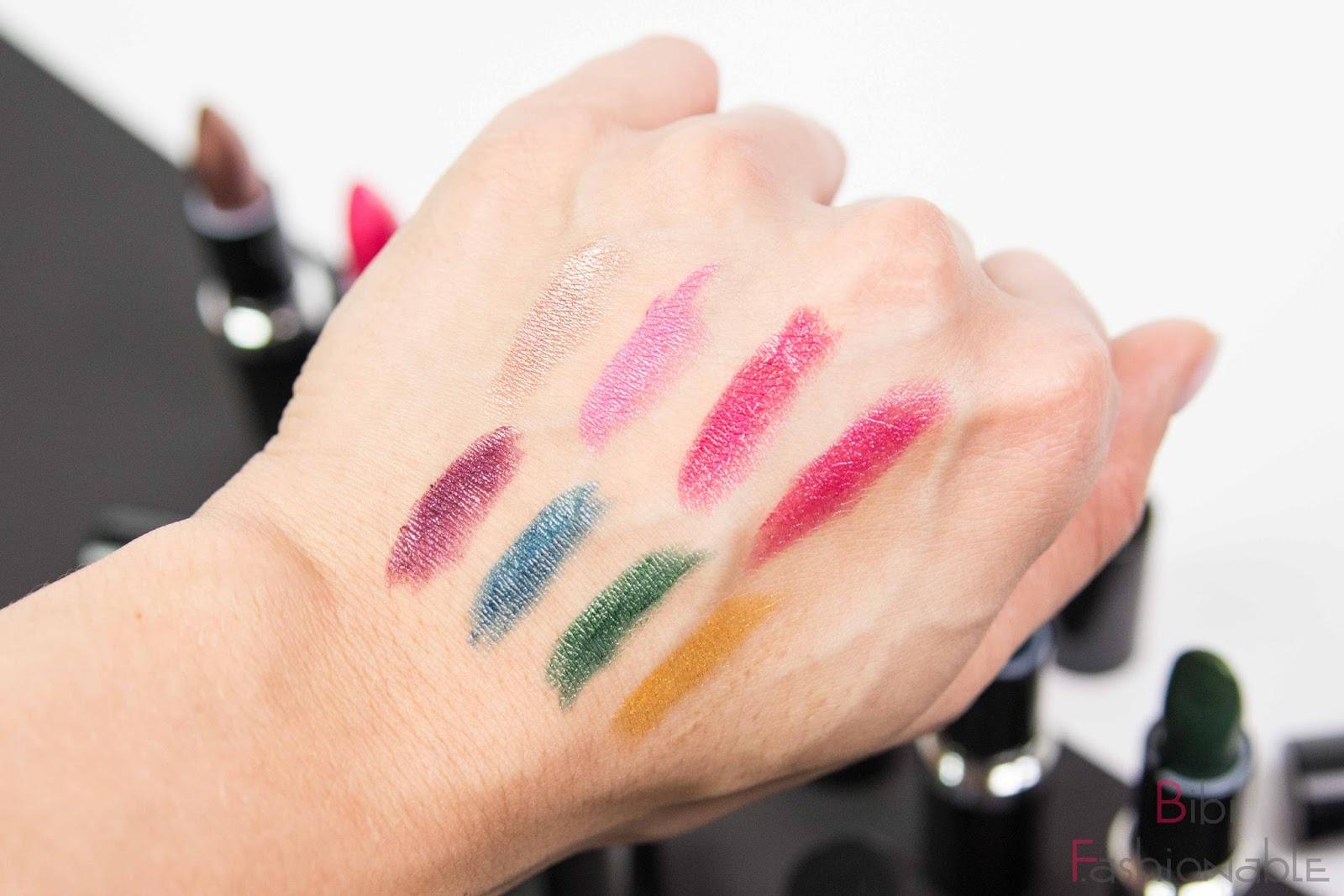 essence metal shock lipsticks Swatches