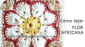 Cómo tejer granny flor africana