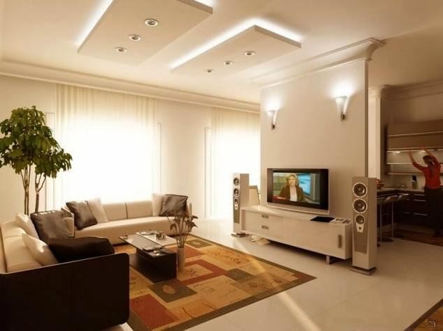 Iluminacao Para Sala De Estar E Tv ~ Construindo Minha Casa Clean Salas de Estar e de TV Modernas!!!