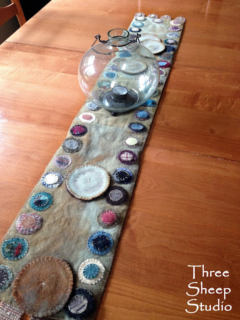 Wool Table Runner - ThreeSheepStudio.com
