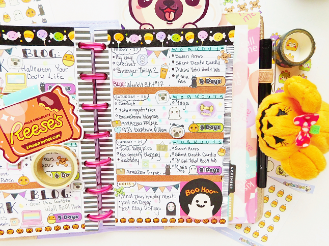 Almost Halloween Planner Spread