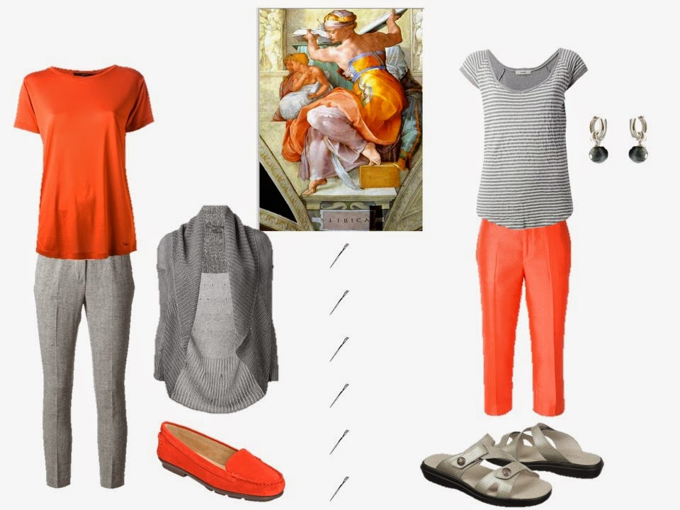 orange and grey outfits