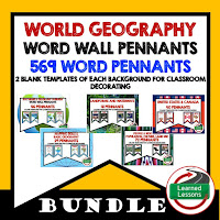 World Geography Word Walls, Classroom Decoration, Mapping Skills, Five Themes, People and Resources, United States, Canada, Europe, Latin America, Russia, Middle East, North Africa, Sub-Saharan Africa, Asia, Australia, Antarctica