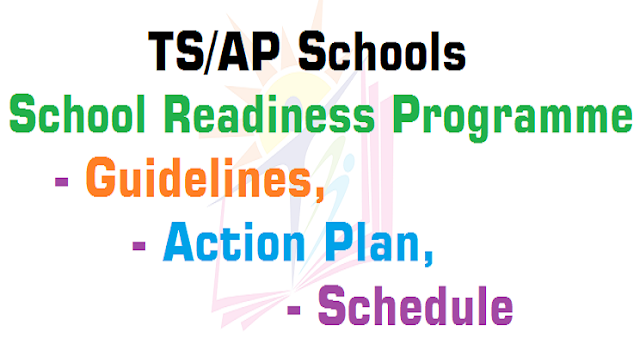 TS Schools,School Readiness Programme,Guidelines, Action Plan, Schedule