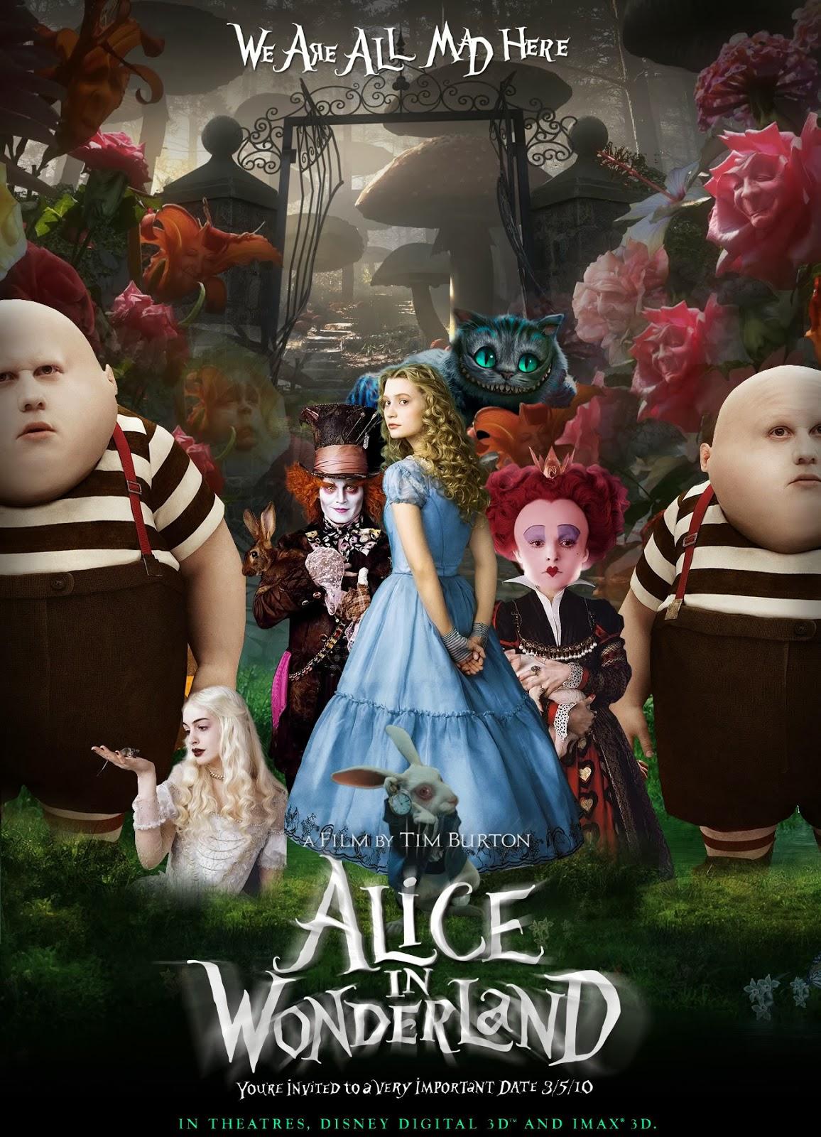 Click's Clan: Film Review: Tim Burton's Alice in Wonderland