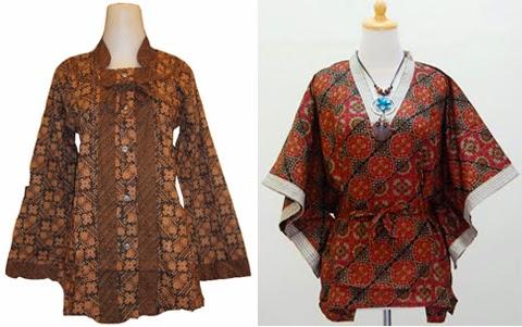 model baju pesta batik wanita gemuk