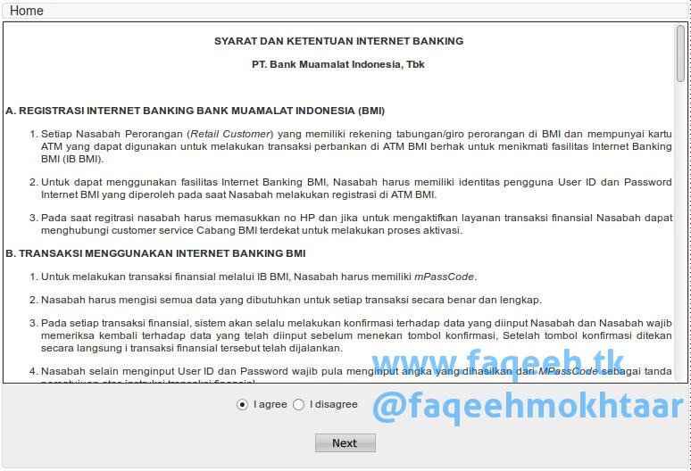 Syarat dan Ketentuan Internet Banking Bank Muamalat