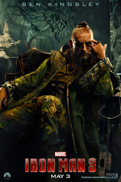 Iron Man 3 One Sheet Character Movie Posters - Ben Kingsley as The Mandarin