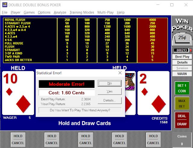 Winpoker screen shot video poker trainer