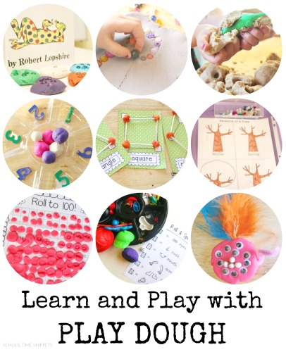 creative ways to use play dough