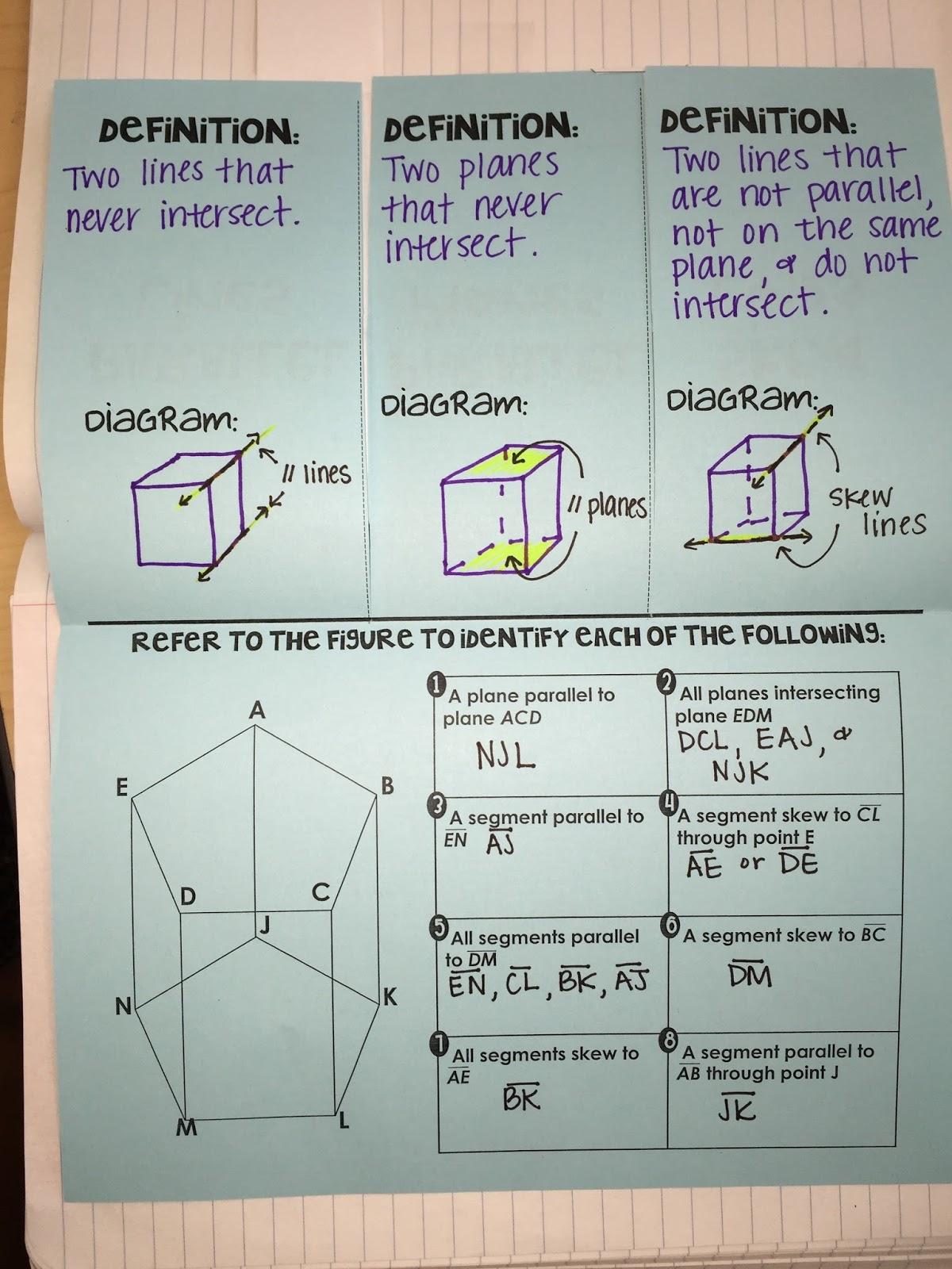 worksheet. Parallel Lines And Planes Worksheet. Carlos Lomas ...