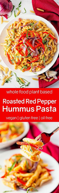 Roasted Red Pepper Hummus Pasta