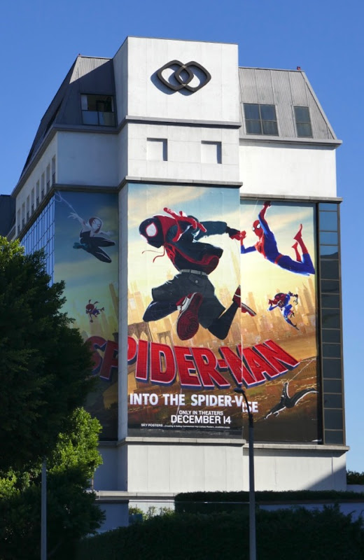 Spiderman Into Spiderverse billboard