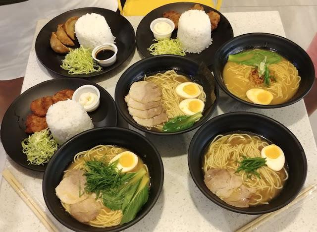 Tomochan Ramen Express food lineup