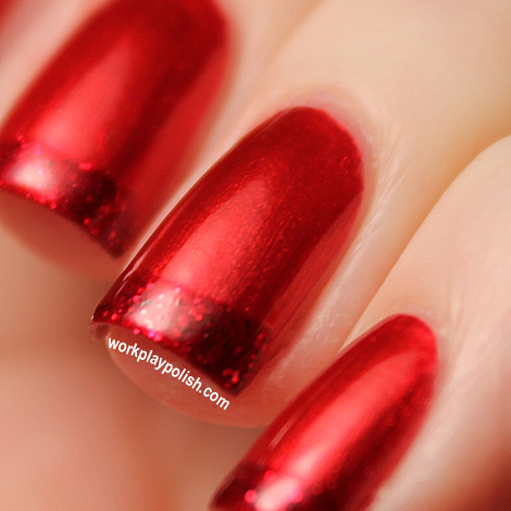 Red Essie Tipped French Mani (work / play / polish)
