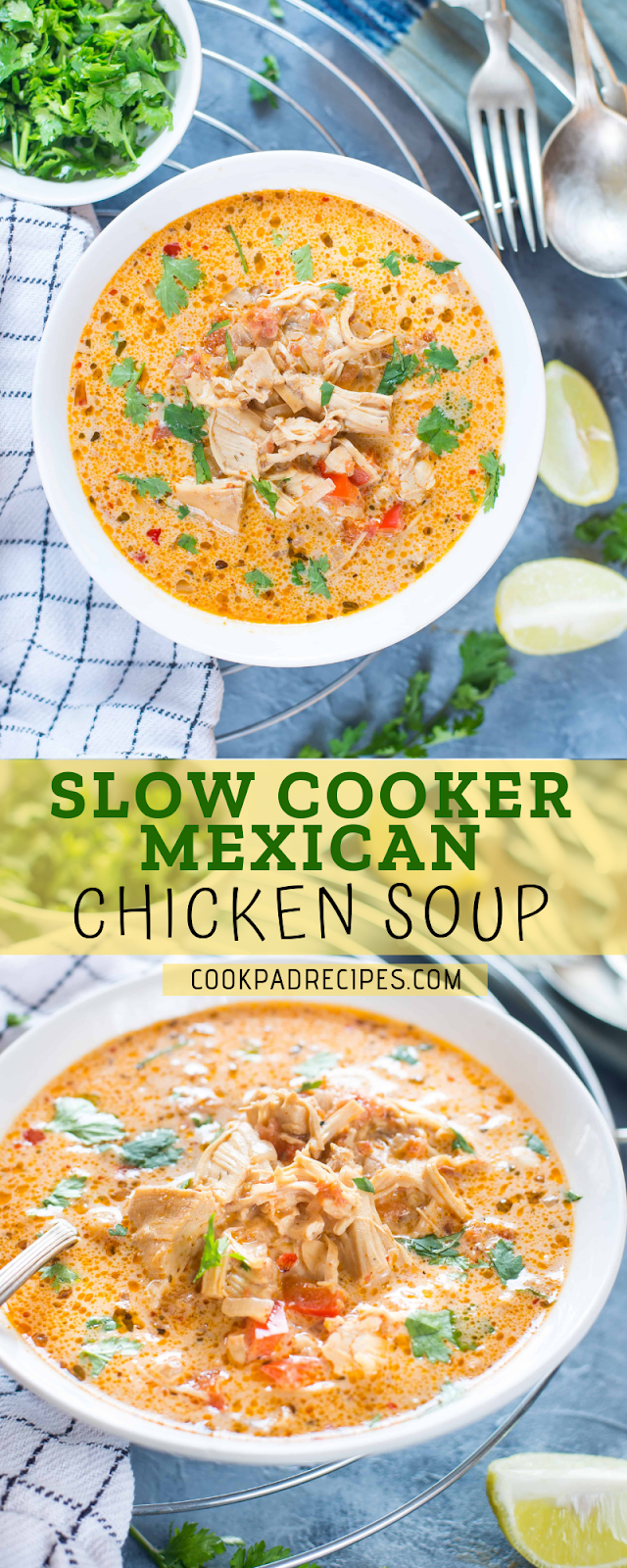 SLOW COOKER MEXICAN CHICKEN SOUP – KETO / LOW CARB