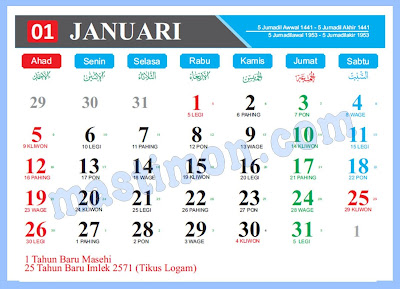 Download Kalender 2020 Cdr Pdf Psd Png Dan Jpg Full Hd
