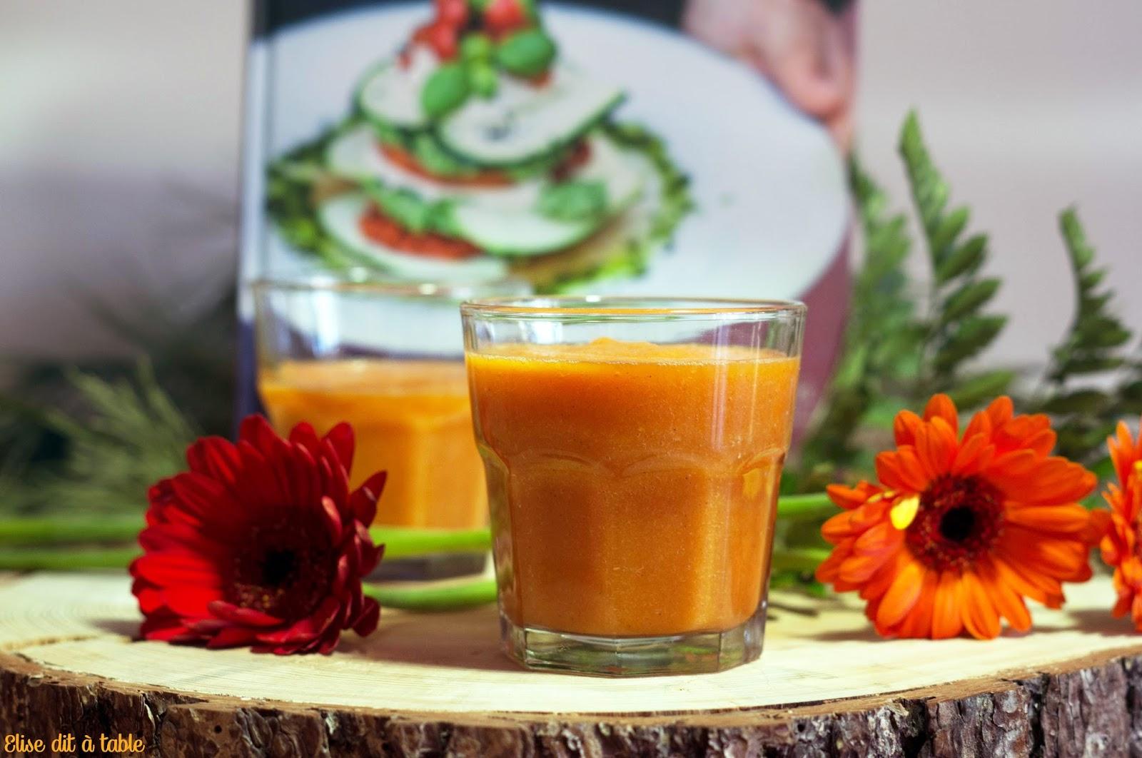recette jus de carotte et mandarine aux épices