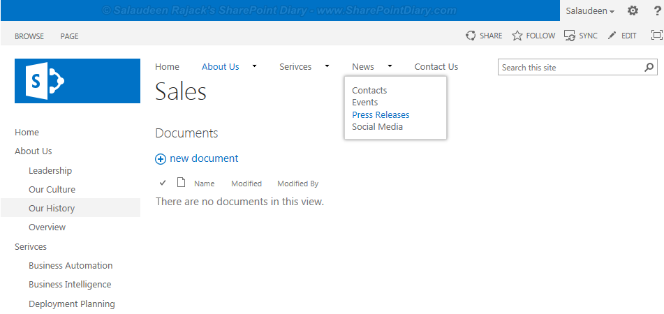 sharepoint 2013 managed metadata navigation