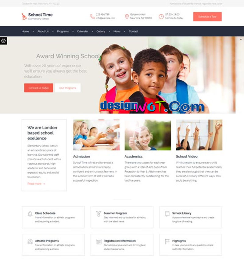 school time modern education wordpress theme