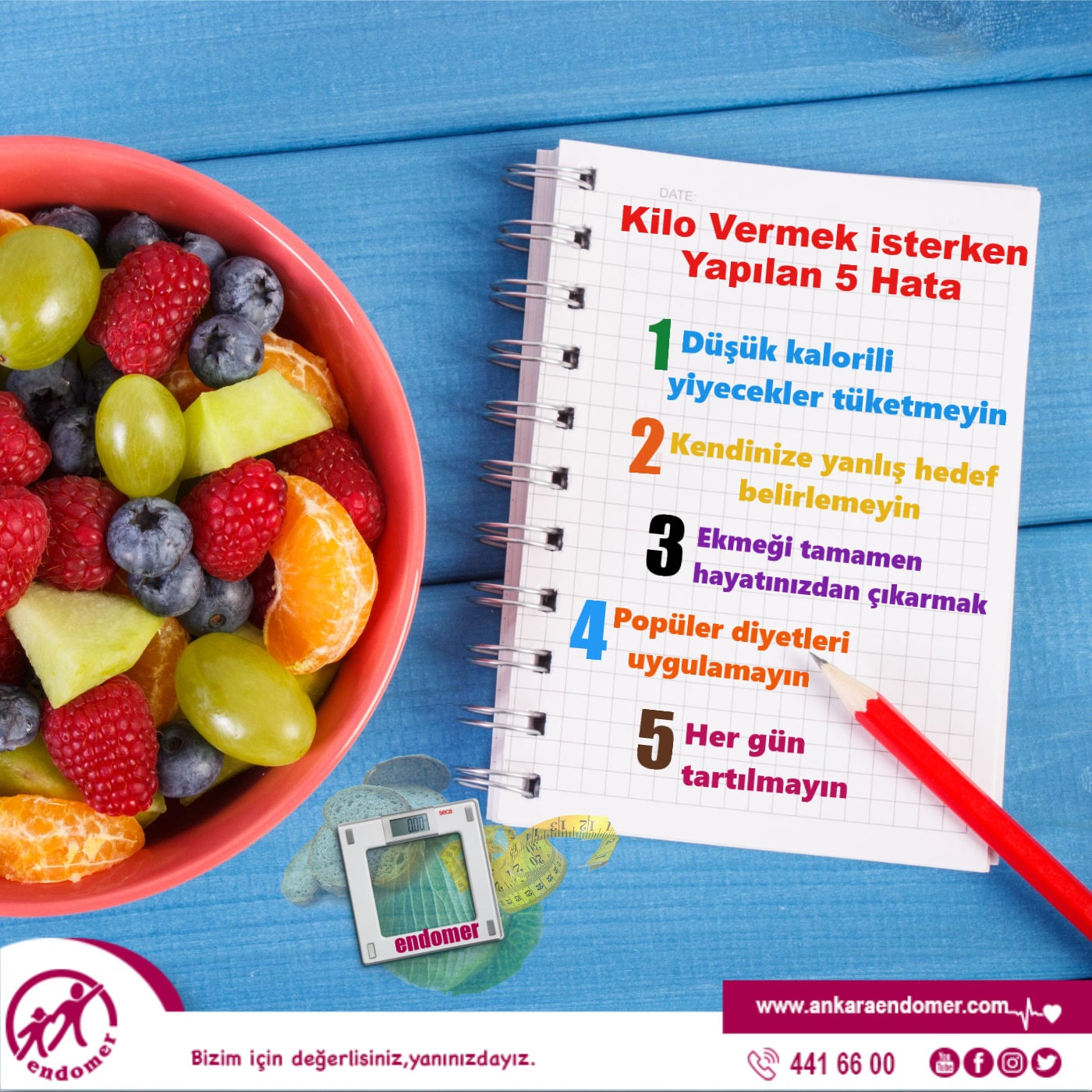 Diyete Özel Sağlıklı Meyve Topları