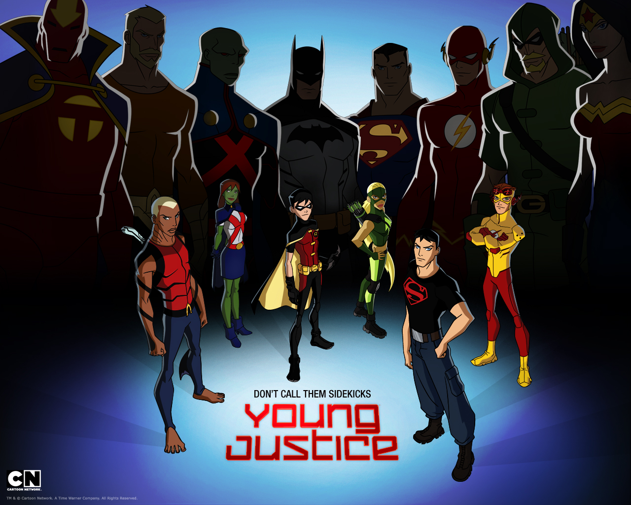wallpaper papel de parede do desenho animado justi a jovem young justice invasion brasil. Black Bedroom Furniture Sets. Home Design Ideas