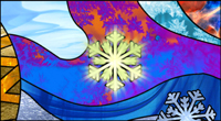stained glass snowflake xmas card