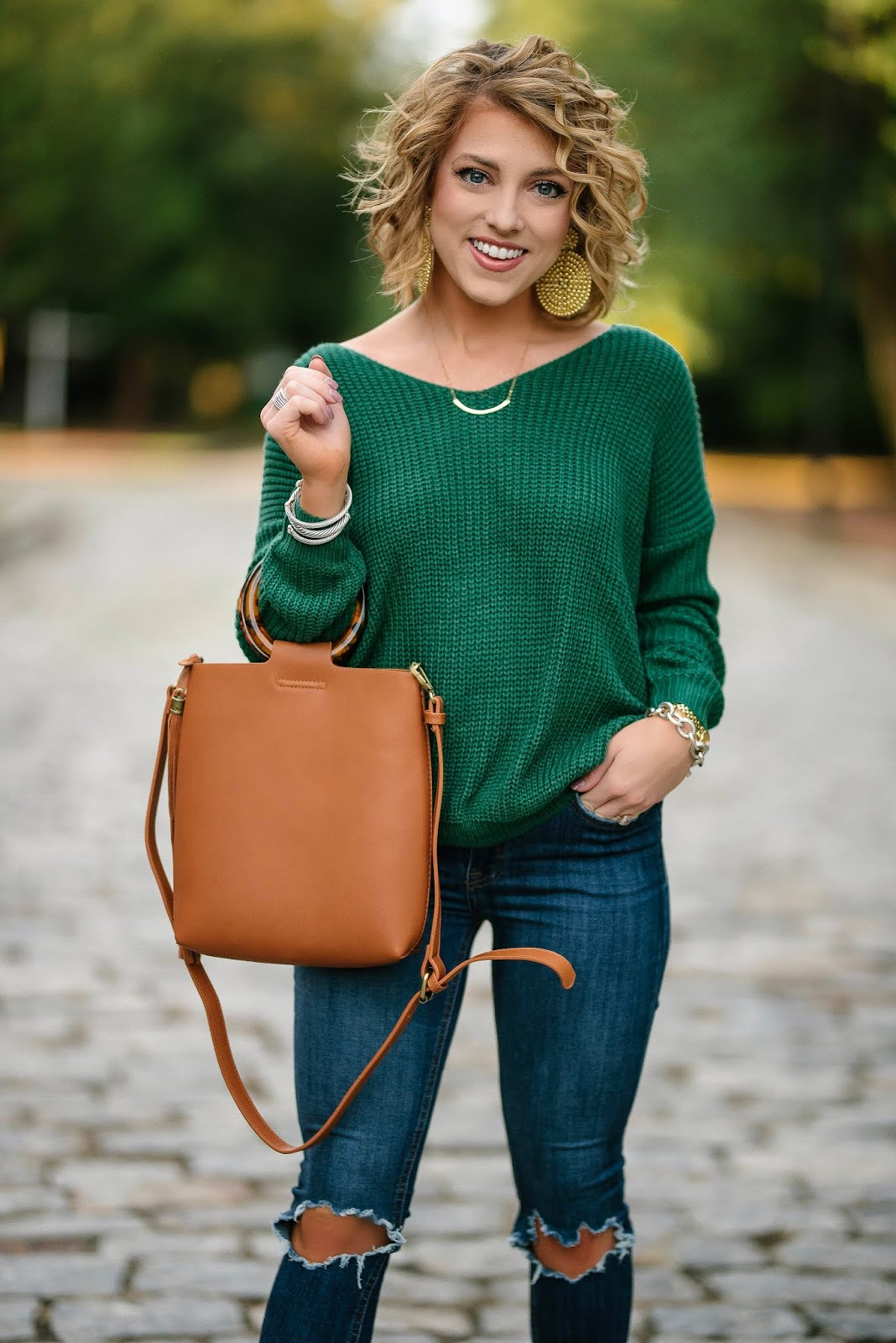 Leopard + Emerald Green for Fall: Under $60 Twist Back Sweater - Something Delightful Blog