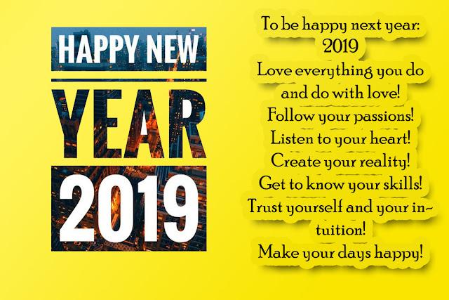 Happy New Year 2019- In a few days