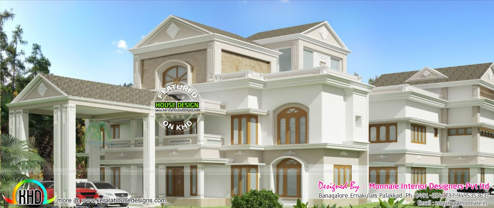 royal home luxurious style kerala home design and floor