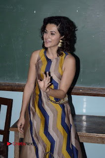 Actress Tapsee Panu Stills at Remonetise India Campaign in Chetna College Bandra West  0017.jpg