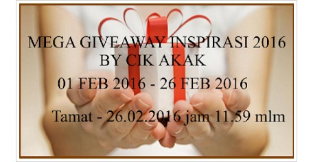 Menang Giveaway Dari Blog Cik Akak