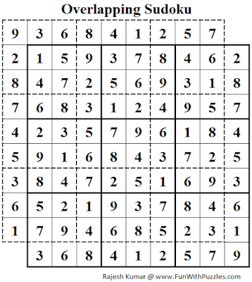 Overlapping Sudoku (Daily Sudoku League #118) Solution
