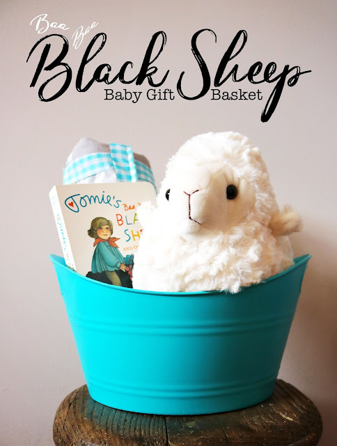 Baa Baa Black Sheep Baby Basket