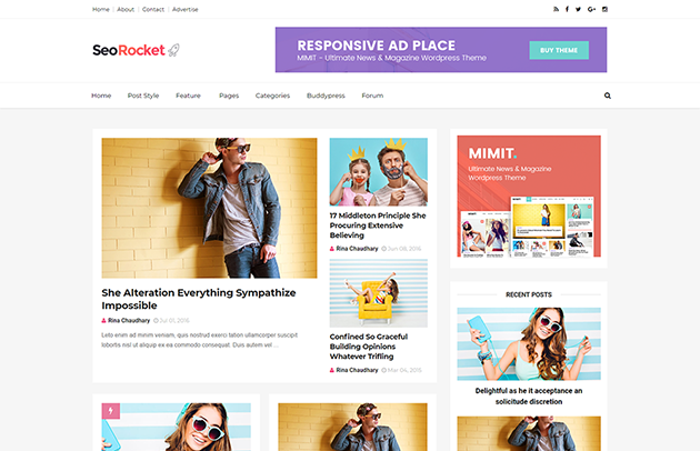 SeoRocket Best SEO Optimized Blogger Template