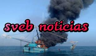 Barco camaronero de Tampico se incendia y se hunde en Costas de Veracruz