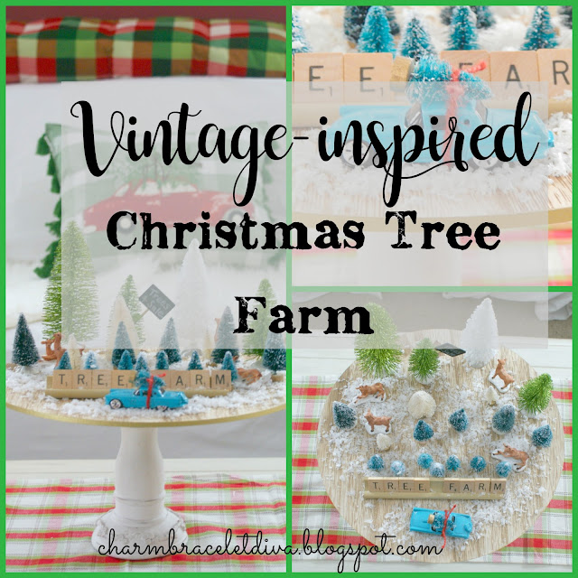 Vintage-inspired Mini Christmas Tree Farm collage