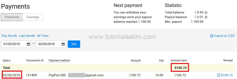 Pembayaran Propeller Ads Menggunakan Paypal