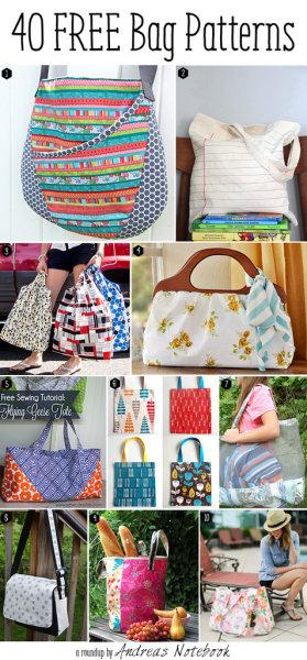 modèles de sacs gratuits DIY