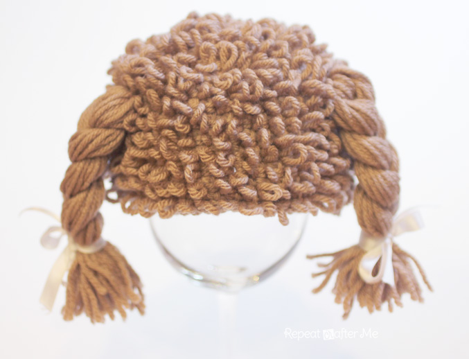Crochet Cabbage Patch Doll Inspired Hat - Repeat Crafter Me