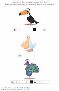 merupakan lembar kerja anak yang bertujuan sebagai wadah belajar bagi anak Tugas Anak Bertema Jenis-Jenis Burung
