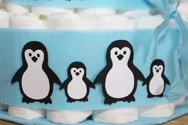 Stadtlandeltern - DIY - Windeltorte - Pinguine