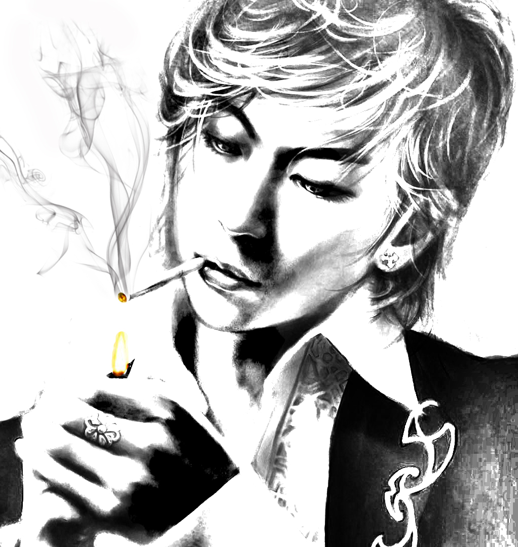 wallpapers cartoon smoking man character artworks fantasy 196364