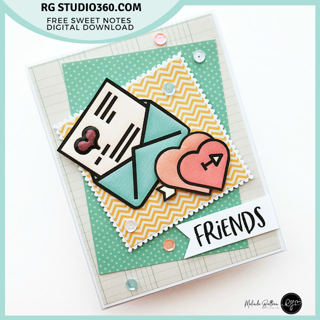 RG Studio 360 Card Featuring Sweet Notes Freebie