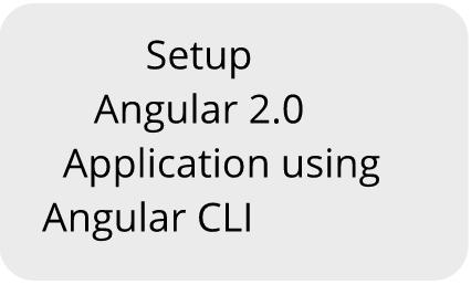 Setup Angular 2 0 Application using Angular CLI - Dot Net