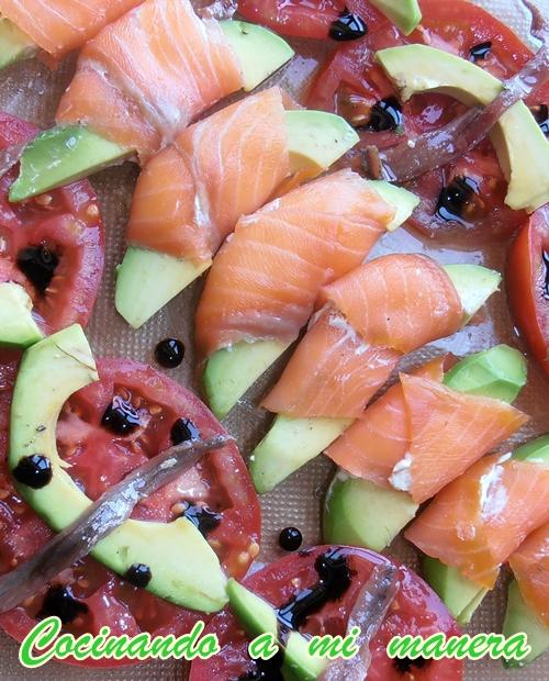 aperitivo salmón