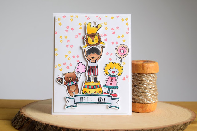 Slider Birthday Card by Jess Crafts featuring Neat and Tangled Big Top Birthday