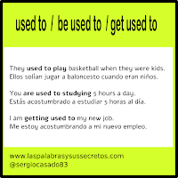 "Diferencia entre ""used to"", ""be used to"" y ""get used to"", inglés, aprender inglés, palabras confusas"