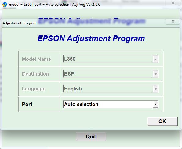 Resetter Epson L1300 resetter